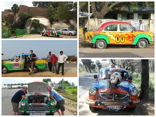 Rebuilt Hindustan Ambassadors with custom paintjob