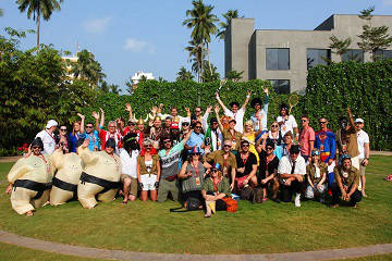 Rickshaw Challenge Malabar Rampage tuk tuk race in India team photo
