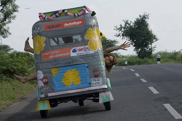 Rickshaw Challenge Deccan Odyssey tuk tuk race in India crazy rally