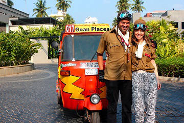 Rickshaw Challenge Malabar Rampage tuk tuk race in India honeymoon fun