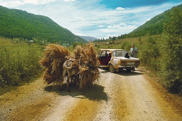 Caucasus mountains adventure rally Armenia donkey Moskvitch