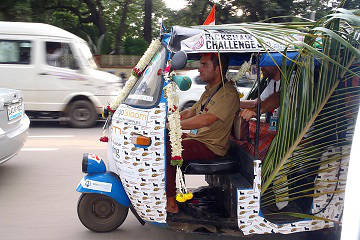 Rickshaw Challenge Deccan Odyssey tuk tuk race in India decorated auto rickshaw