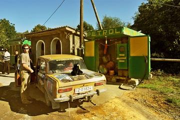 Caucasus shabby petrol station gas third world