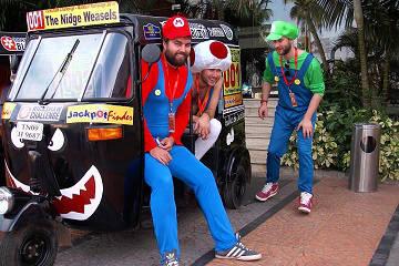 Rickshaw Challenge Malabar Rampage tuk tuk race in India funny Mario cart