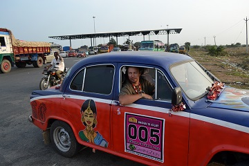 Travel Scientists adventure rally India's Cup customized Hindustan Ambassador race drive Amby in India