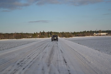 winter driving baltic run snowy adventure