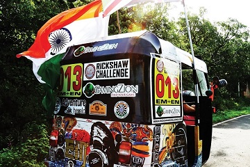 Rickshaw Challenge Mumbai XPress Goa to Chennai crazy adventure tuk tuk race in India British pride