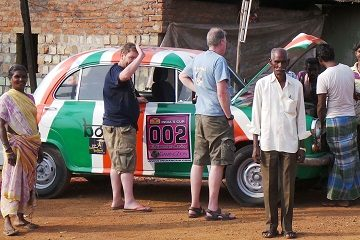 Travel Scientists Hindustan Ambassador race in India