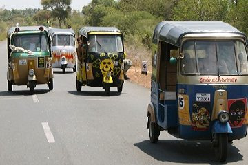 Rickshaw Challenge Classic Run adventure trip with tuk tuk auto rickshaws in India Chennai to Trivandrum