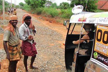 Southeast India beach tuk tuk ride adventure