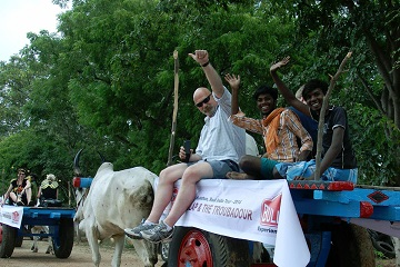 Bullathon, a holiday adventure by Travel Scientists in the real rural India. Explore Tamil Nadu on an ox cart. This crazy adventure you will remember forever