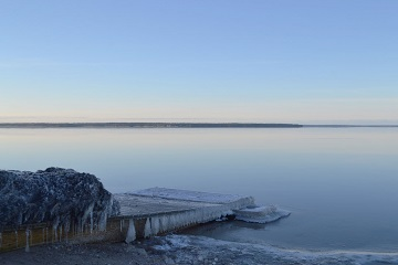Estonia beach frozen seaside icy pier Baltic Run