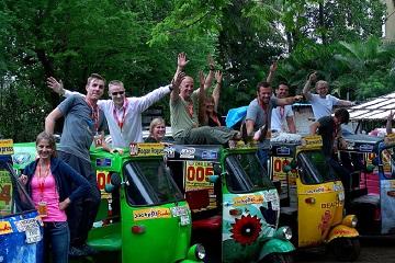 Rickshaw Challenge Mumbai XPress Goa to Chennai crazy adventure tuk tuk race in India participants