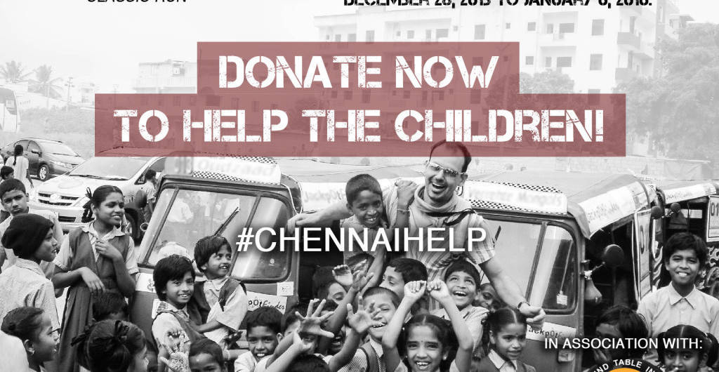 Charity in Southern Asia Donate to Tamilnadu flood victims
