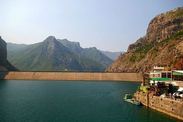 The Travel Scientists' Great Balkan Ride takes you around some of the most breathtaking sights and places of Europe. The Dam on the River Drin at Vau i Dejës in Skhoder, Albania is one of them.