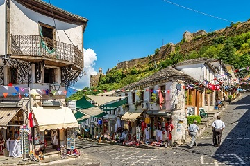 The Travel Scientists' Great Balkan Ride takes you around the Balkans. Gjirokaster is said to have been preserved so beautifully intact, because it was the hometown of Albania's communist dictator, Enver Hoxha.