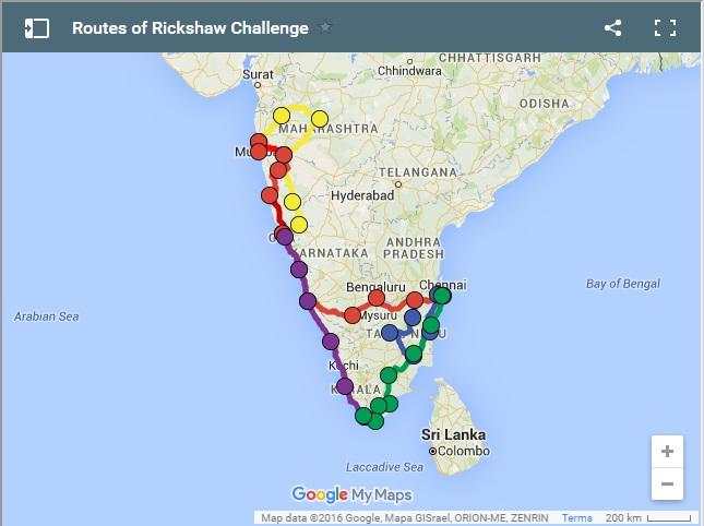 Rickshaw Challenge Routes