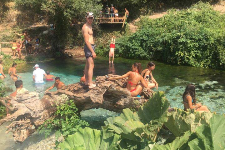 The Travel Scientists' Great Balkan Ride takes you around the Balkans. The Blue Eye Spring (Syri i kaltër) in Albania is more than 50 meters deep.