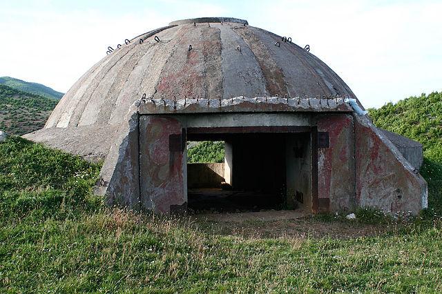 albania's concrete bunkers