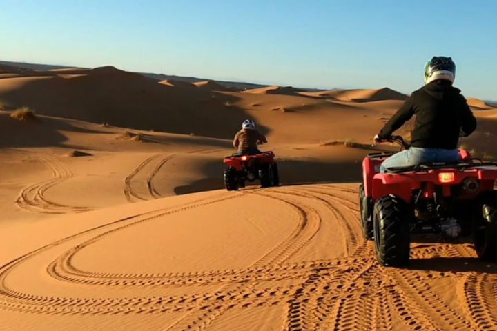 Get on a quad to explore the sand dunes of Erg Chebbi!