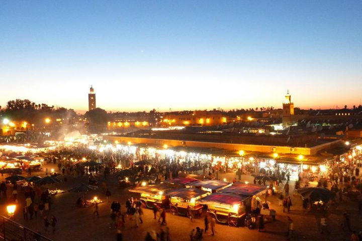 Get lost in the maze of streets of old Marrakech.