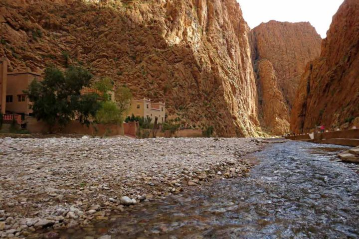 Drive through amazing gorges in the Atlas Mountains