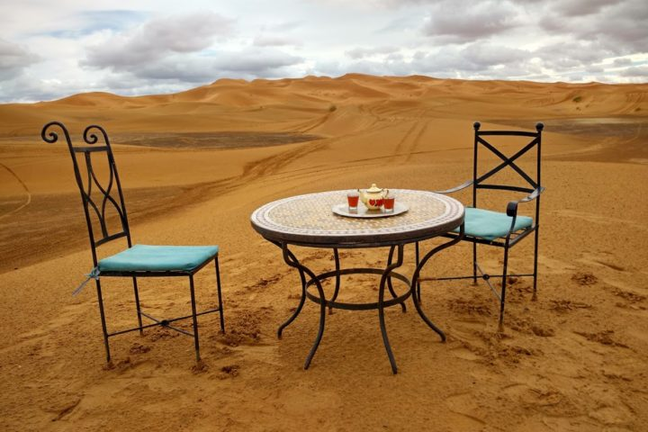 Sting said so we do it: Tea in the Sahara!