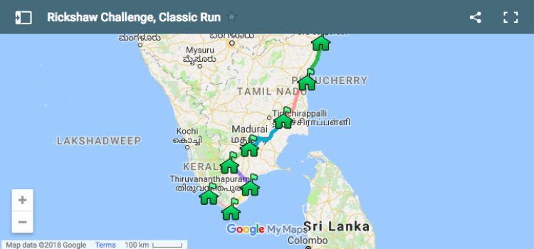 Rickshaw Challenge Tamilnadu Run Tamil Nadu tuk tuk race around Chennai
