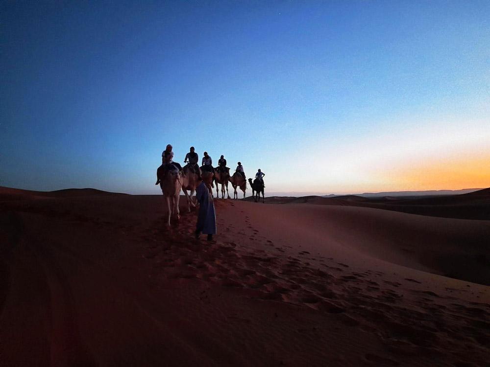 Camel ride Sahara Moroccan Escapade