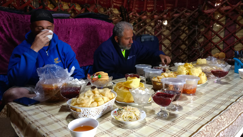 central asia rally food