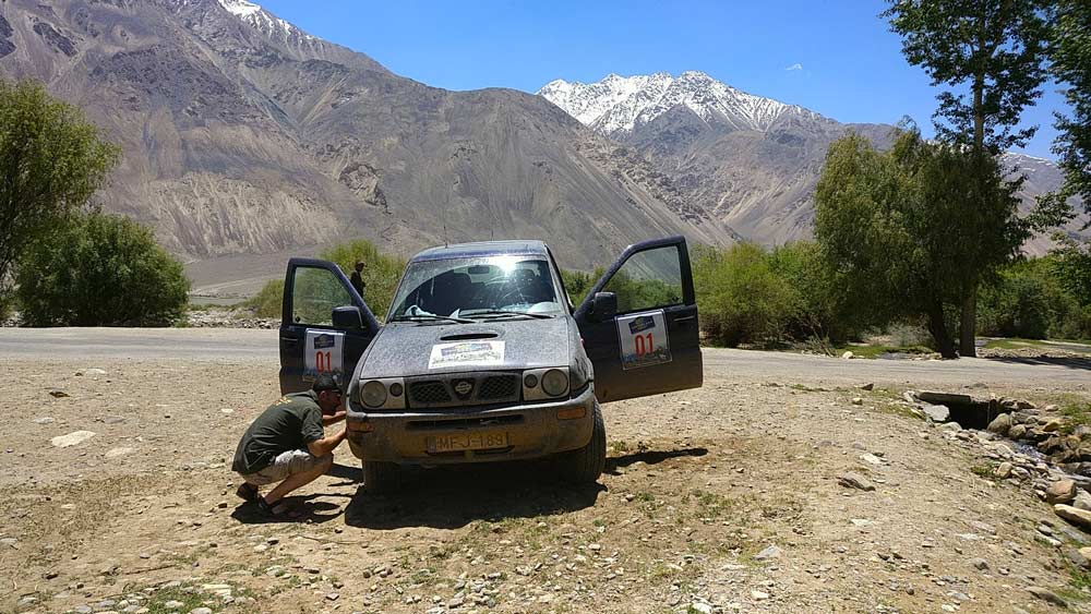 spare tire central asia rally