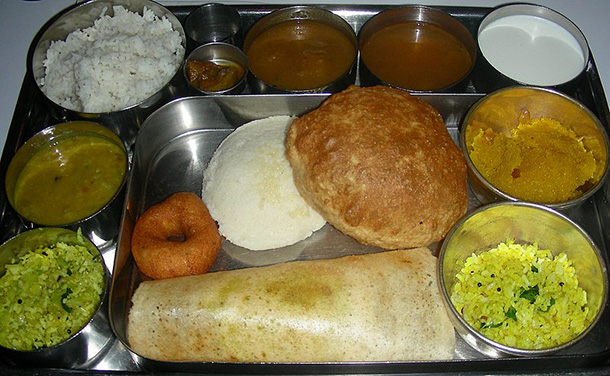 South indian thali culinary yguide india